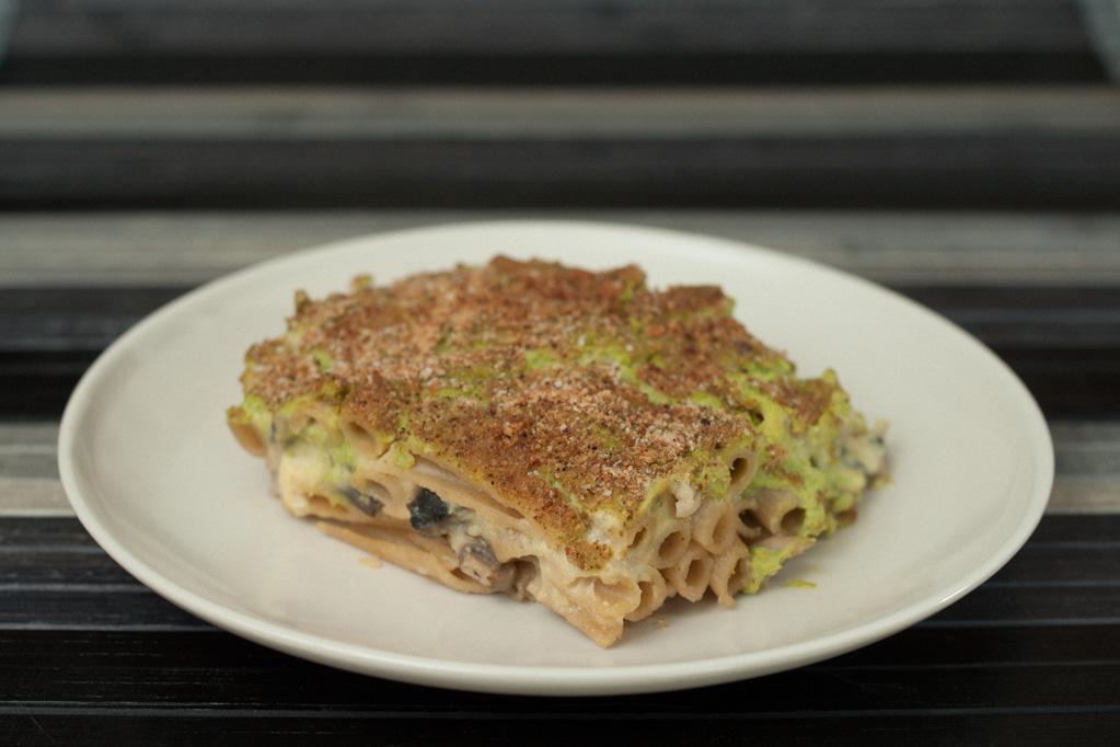 Penne Al Forno Con Funghi E Crema Di Piselli – Piatto Pronto