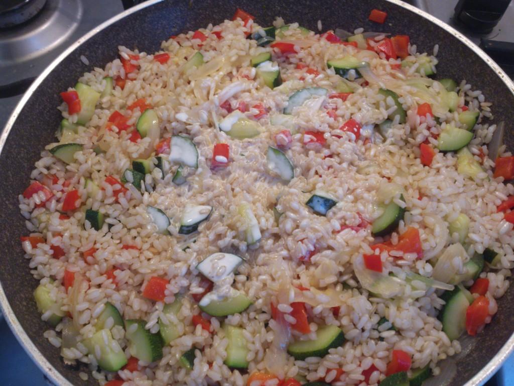 riso saltato con verdure - aggiungo panna di soia