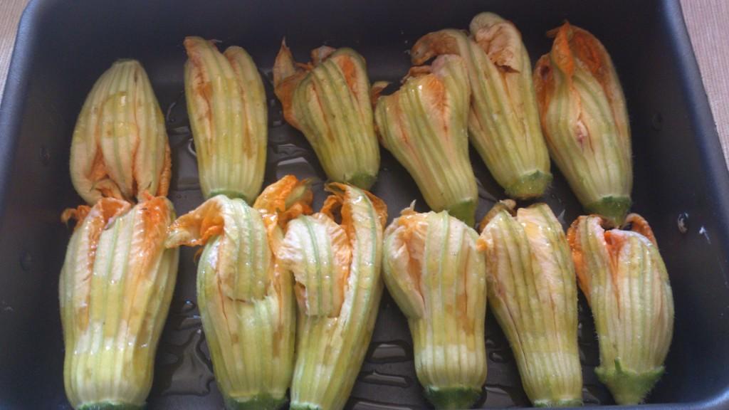 fiori di zucchina ripieni - infornate i fiori di zucchina