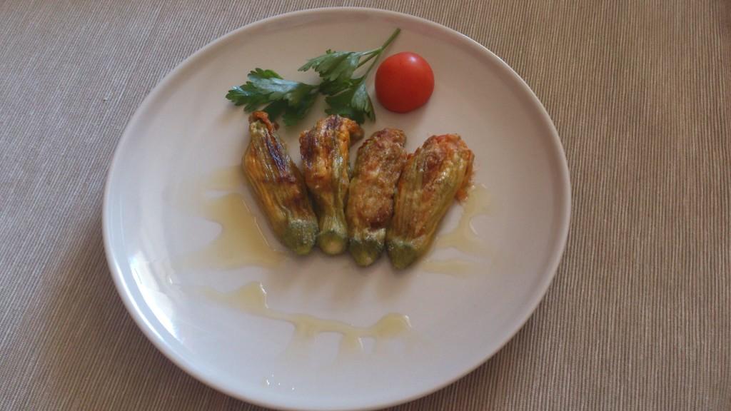 fiori di zucca ripieni - piatto pronto