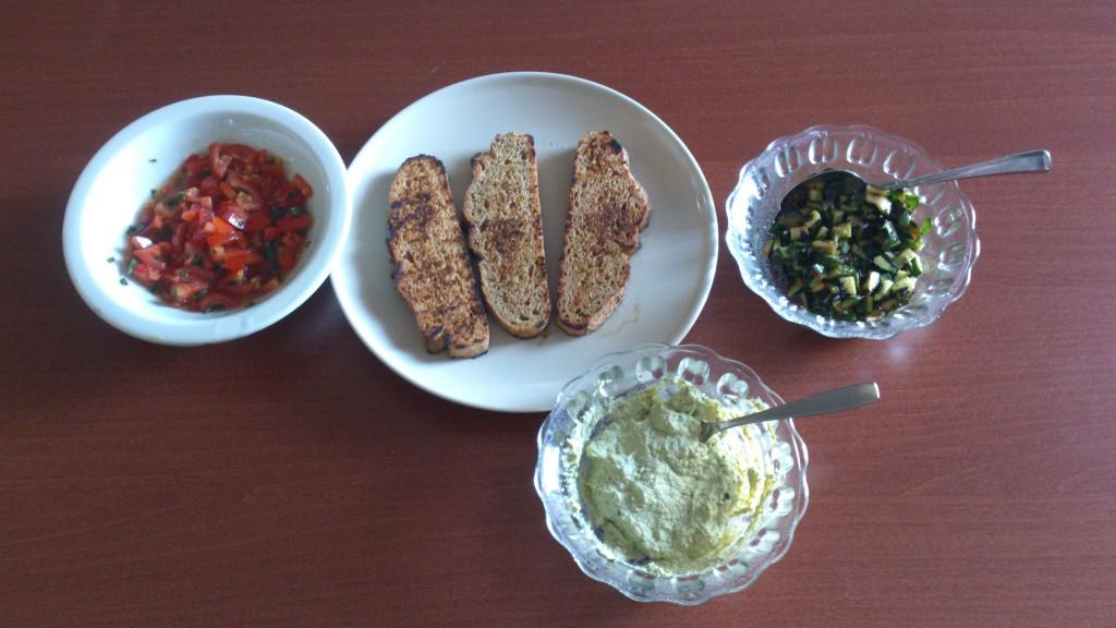 bruschette tricolore - frullo il tofu