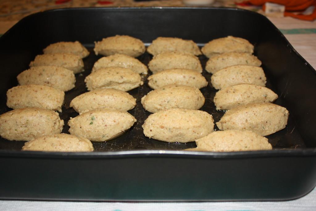 falafel al forno - dispongo sulla teglia