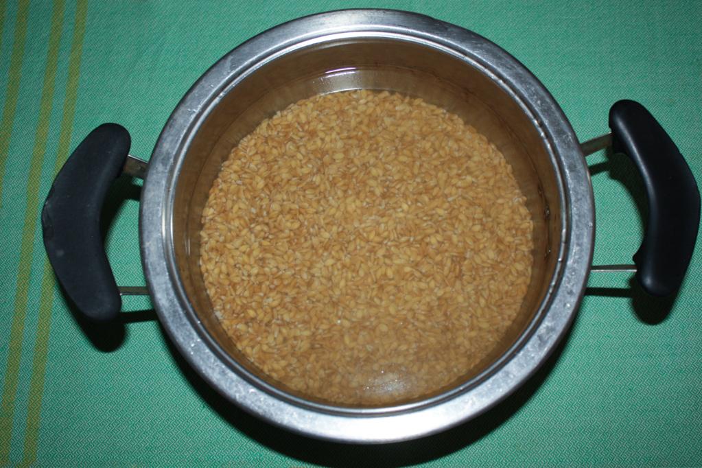 insalata di farro - cuocere il farro