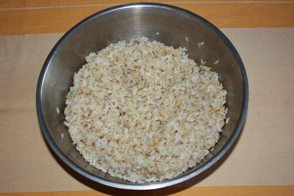 involtini di zucchine e riso - cuocere il riso