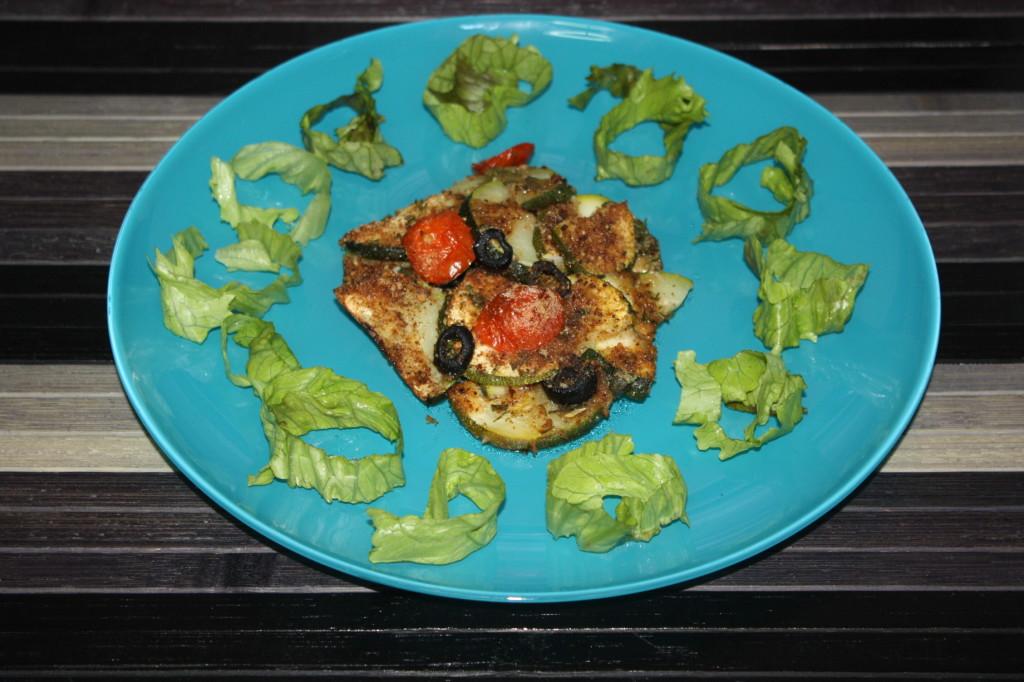 zucchine alle erbe aromatiche - piatto finito