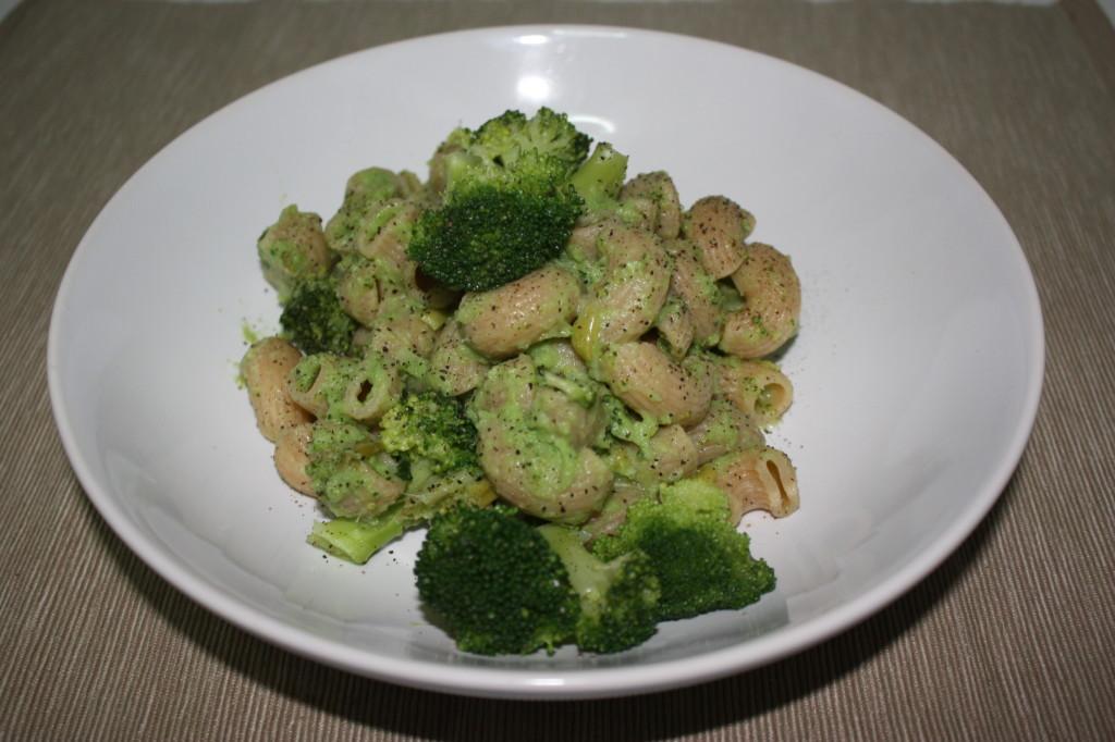 pipe con broccoli e porri - piatto finito