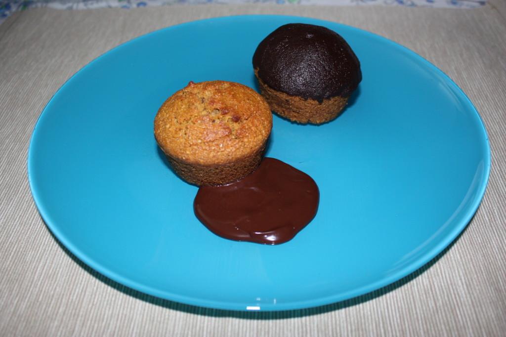 muffin alla zucca vegan - piatto finito