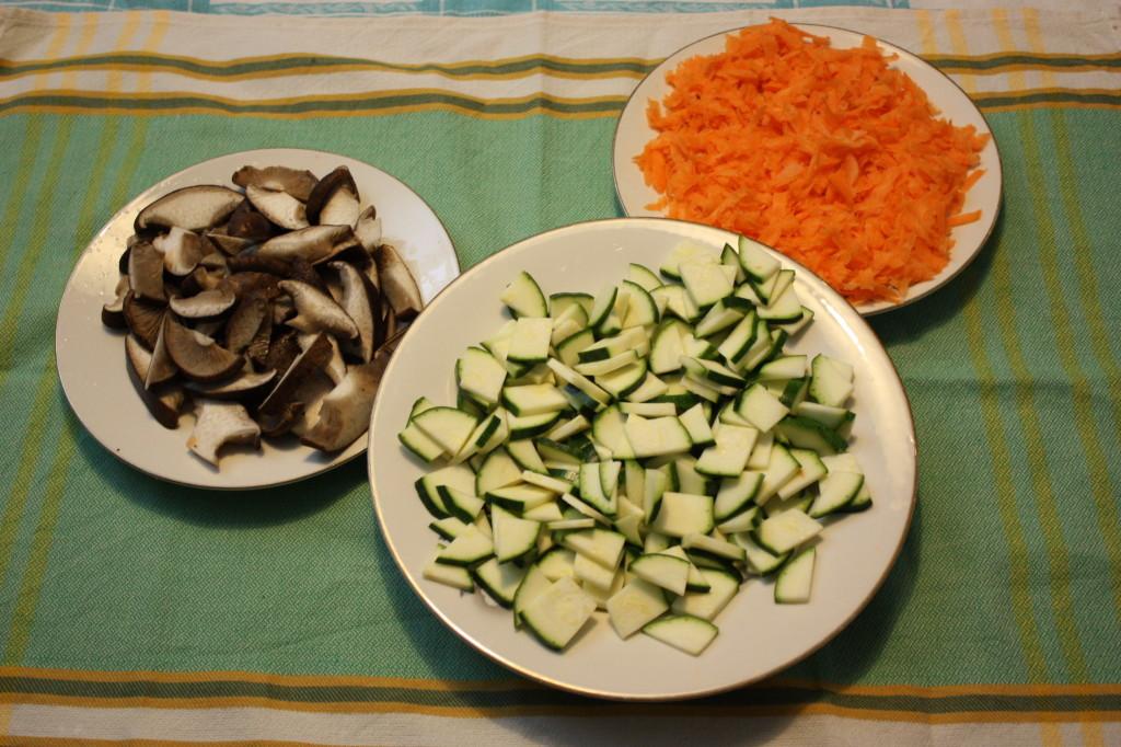 cous cous alle verdure - tagliare le verdure