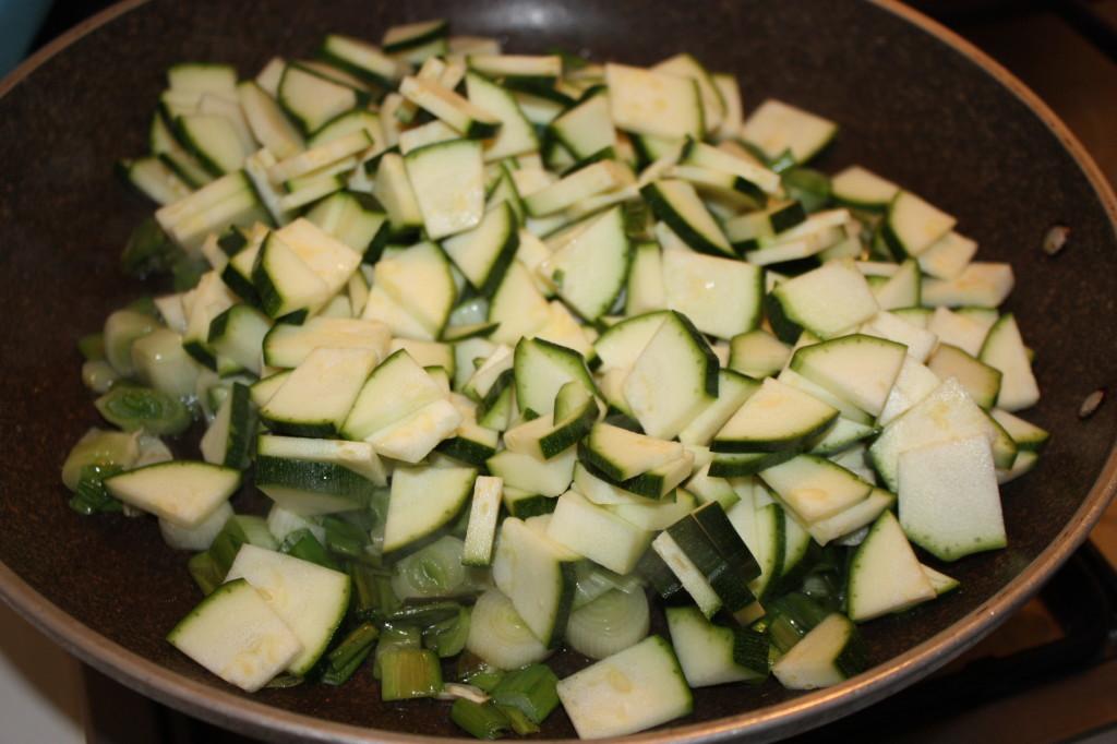 cous cous alle verdure - aggiungere le zucchine