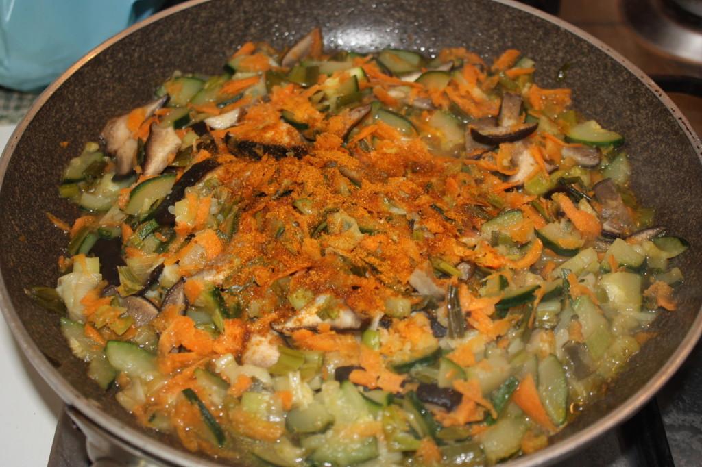 cous cous alle verdure - condire le verdure