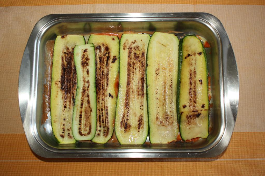parmigiana di zucchine - strato di zucchine
