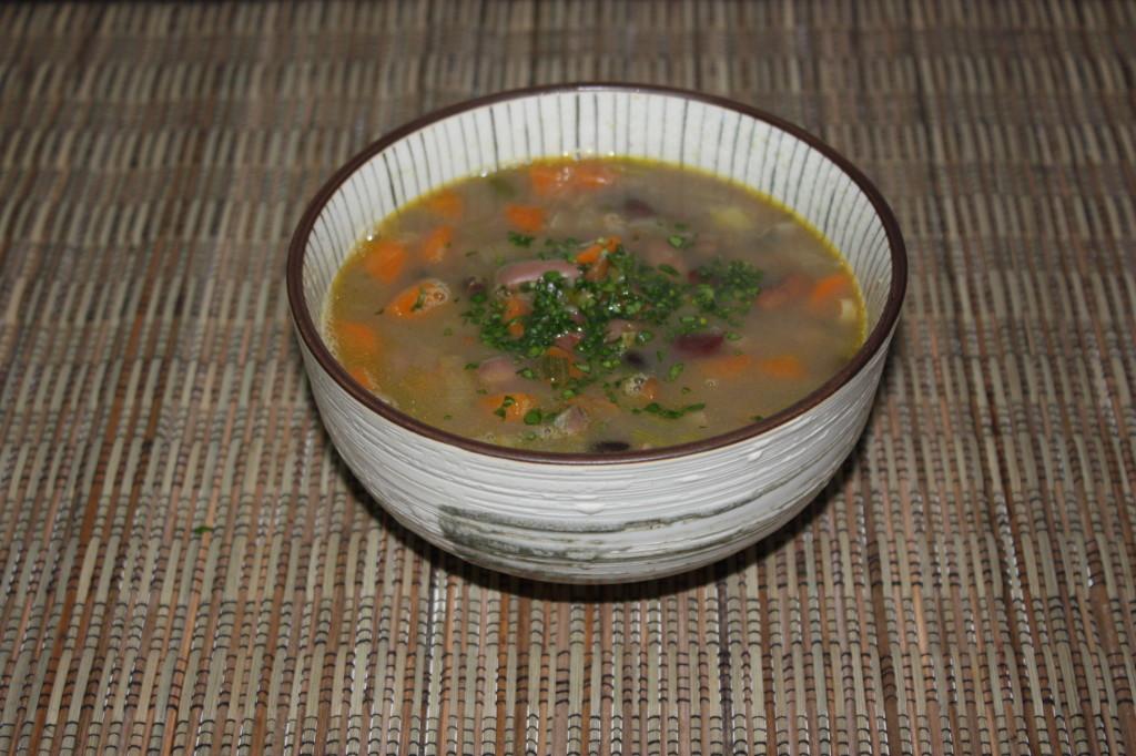zuppa di farro - piatto finito
