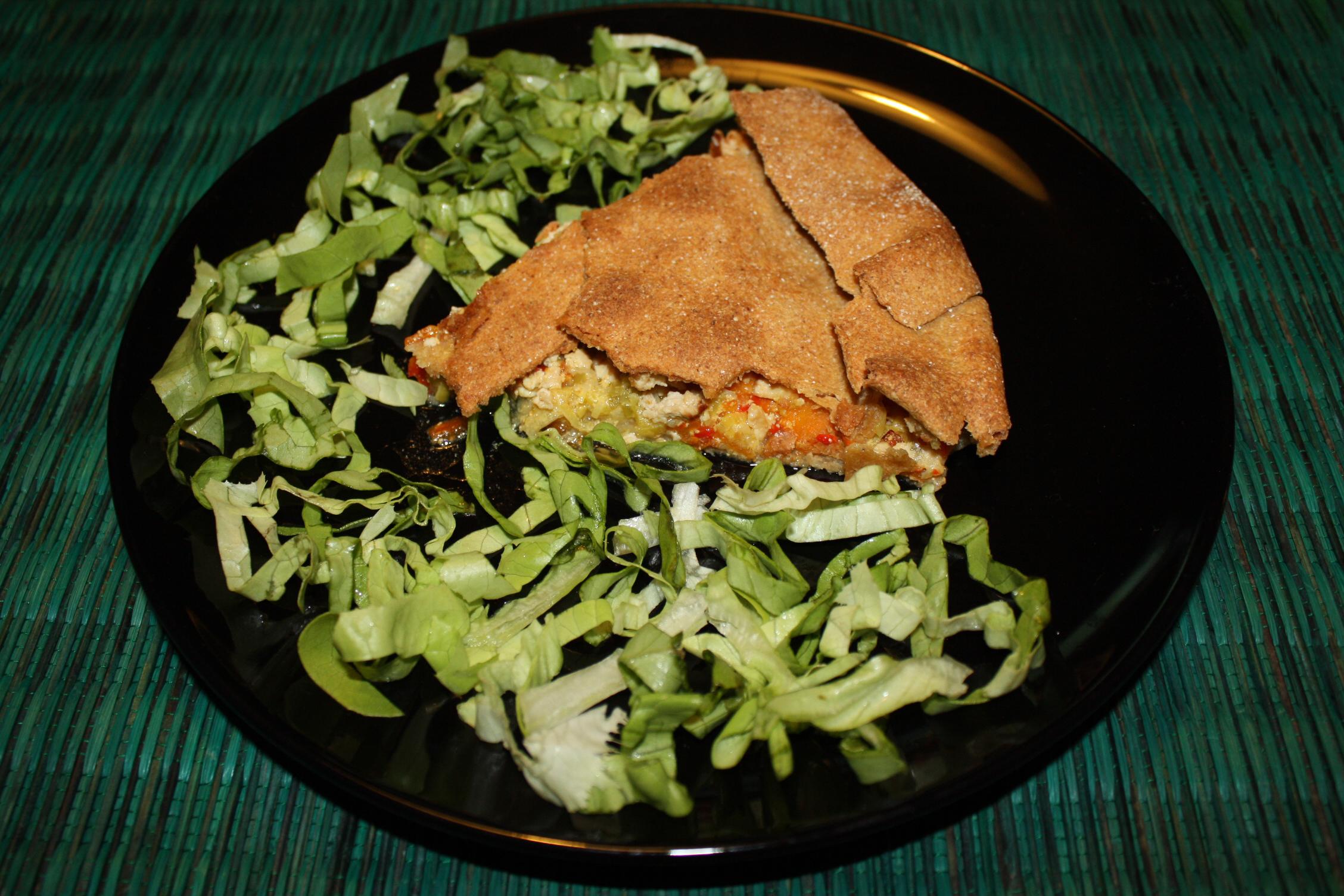 Torta Salata Con Tofu E Verdure – Piatto Finito