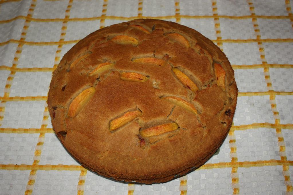 torta alle pesche - torta pronta