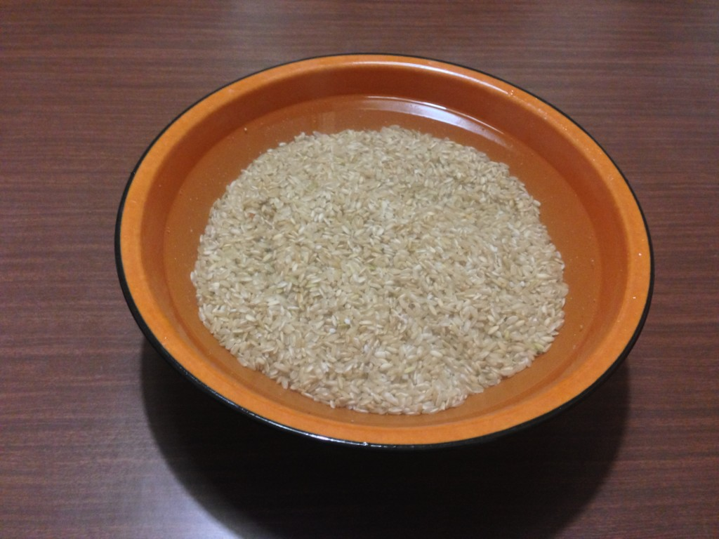 come cucinare il riso - ammollo