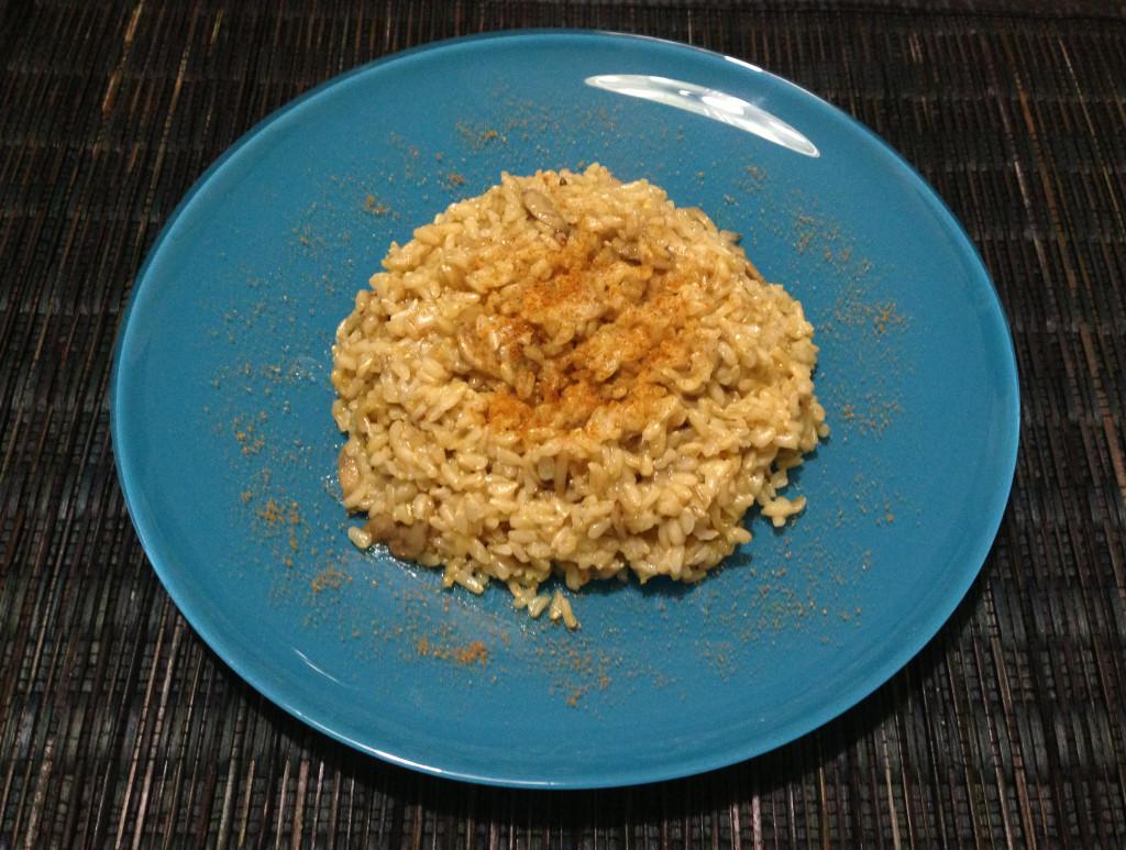 riso al curry con funghi - piatto finale