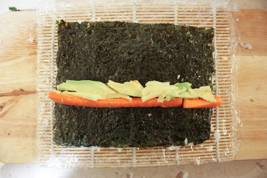 sushi - aggiungere il ripieno