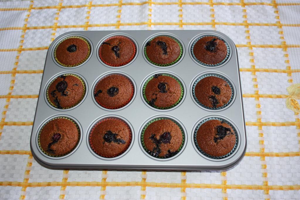 muffin ai mirtilli - infornare