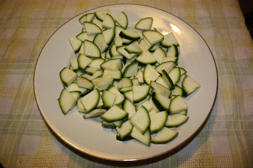 strudel di verdure - tagliare le zucchine