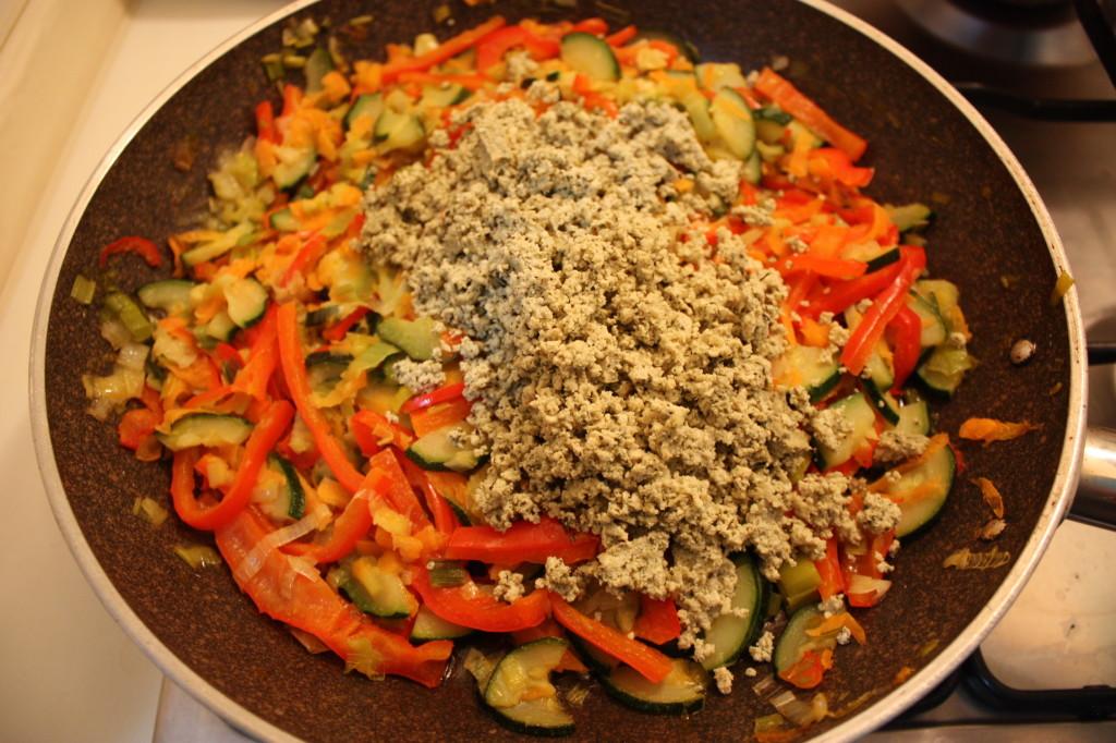 strudel di verdure - aggiungere il tofu