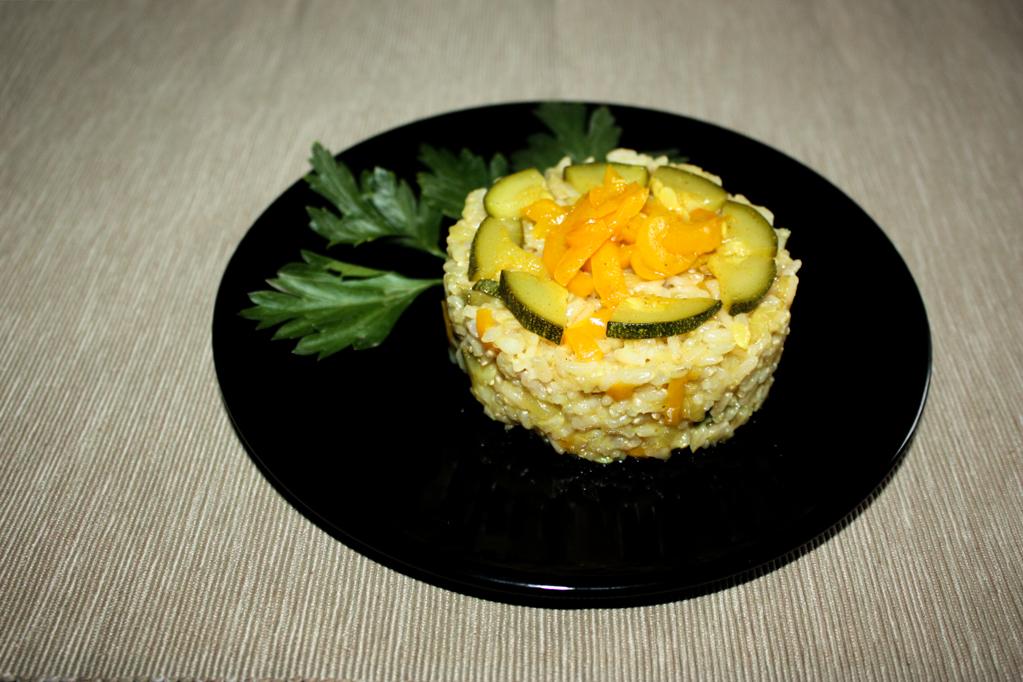 Riso Saltato Con Zucchine E Peperoni