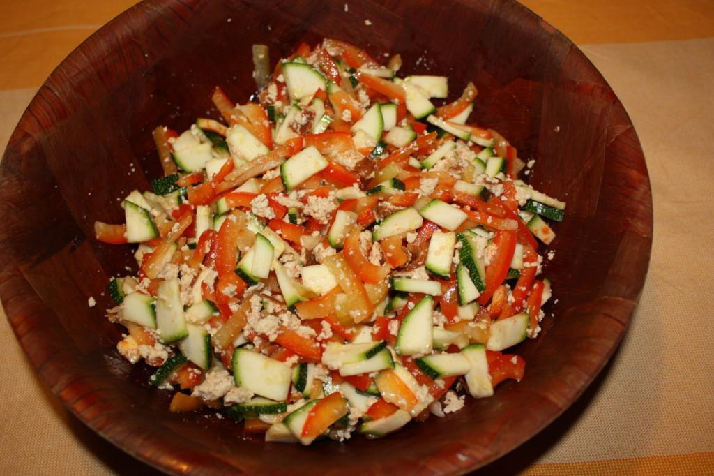 muffin salati - aggiungere il tofu