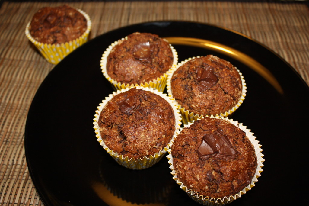 muffin vegan al cioccolato e cocco - muffin pronti
