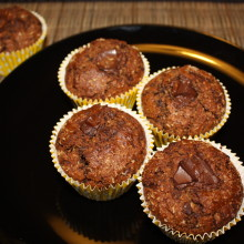 muffin vegan al cioccolato e cocco - muffin pronti