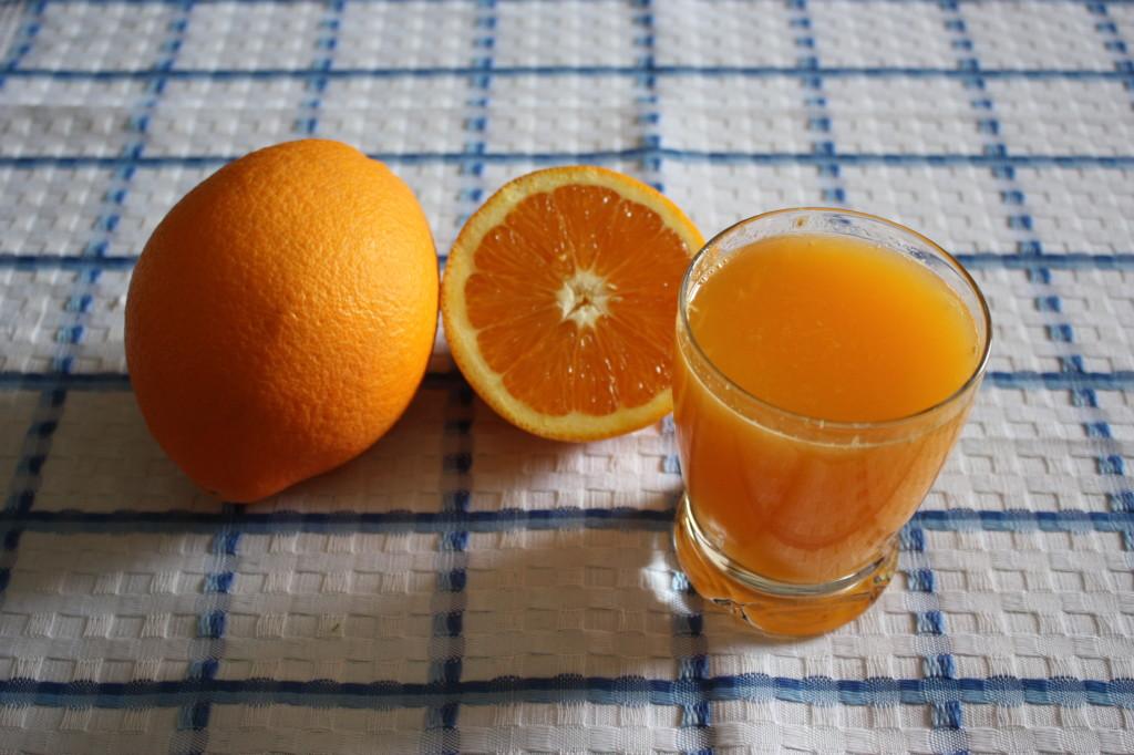 crema all'arancia - premere il succo