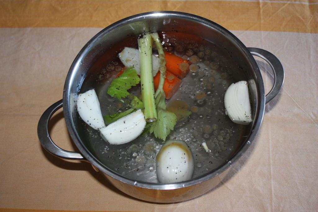 risotto con zucca e olive - brodo vegetale
