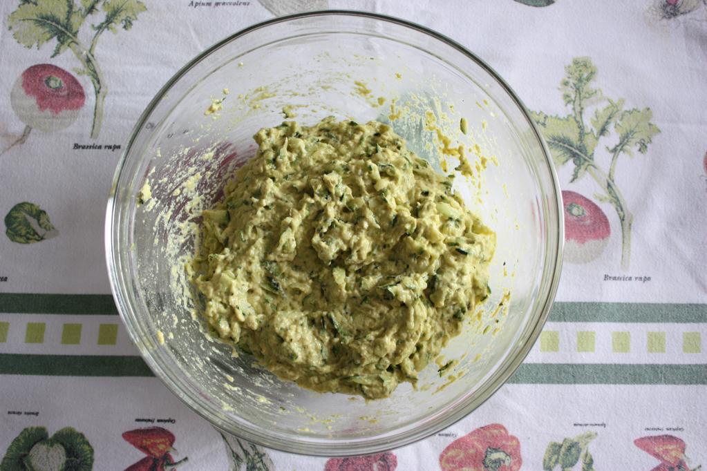 frittelle di zucchine al forno - pastella