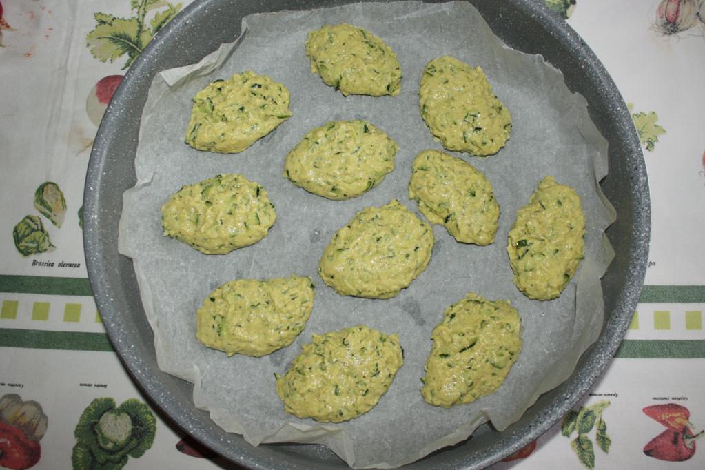frittelle di zucchine al forno - infornare