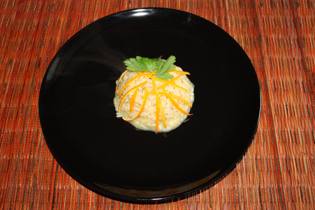 risotto all'arancia - piatto pronto