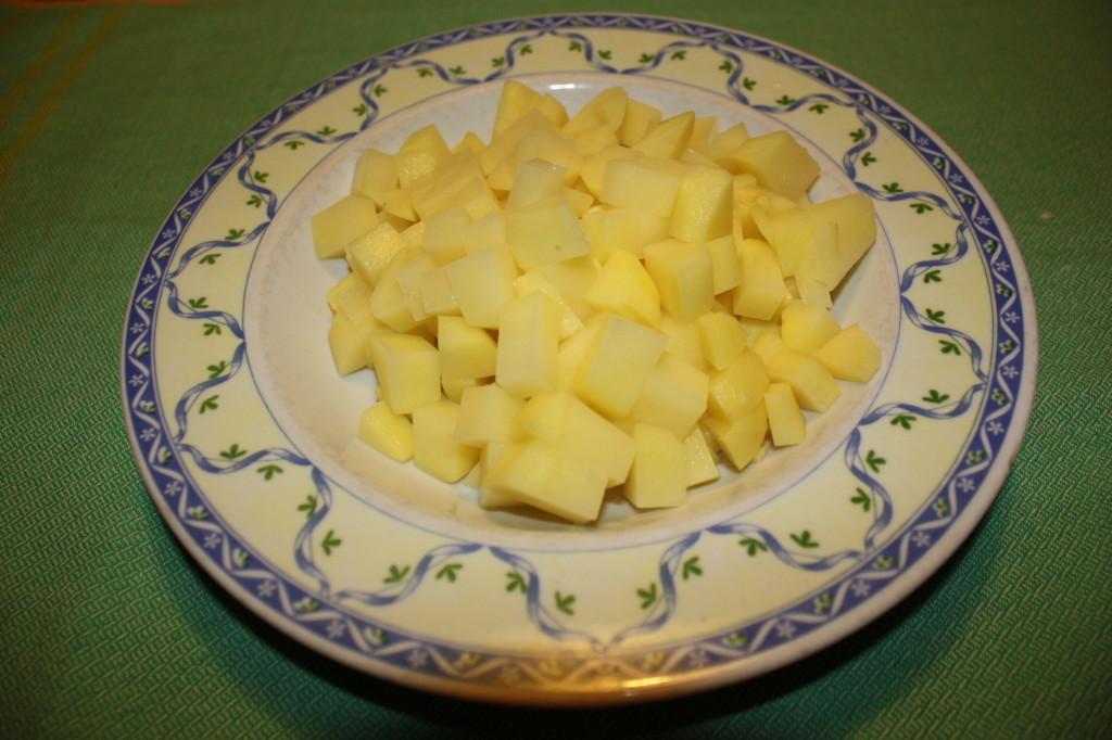 fagottini di verdure - cubetti di patate