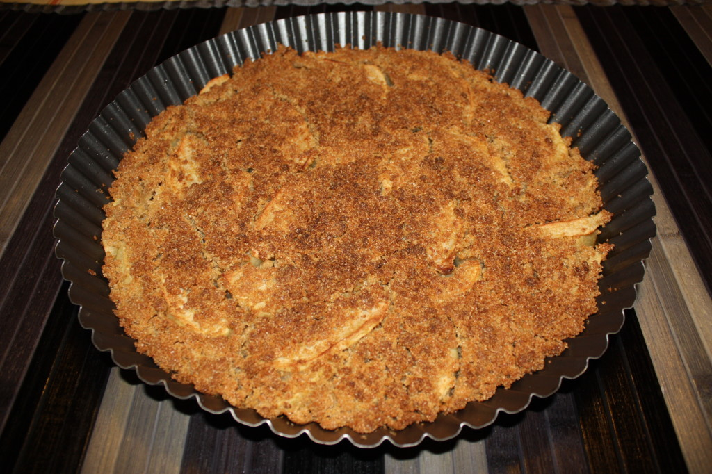 apple crumble vegan - torta pronta