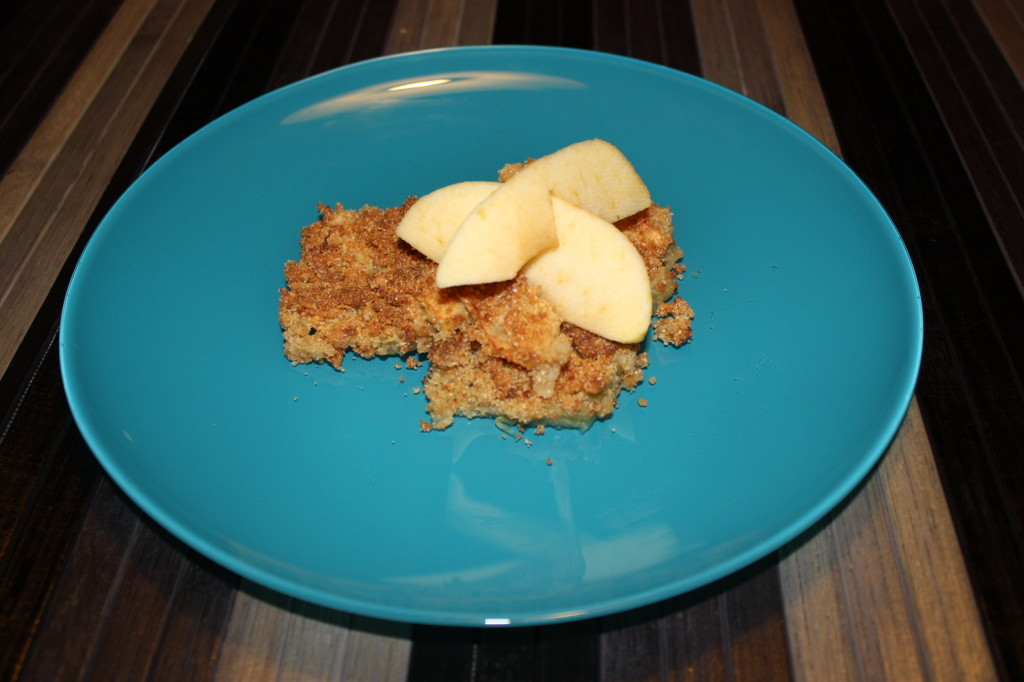 apple crumble vegan - piatto pronto