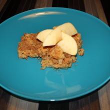 apple crumble vegan - piatto pronto
