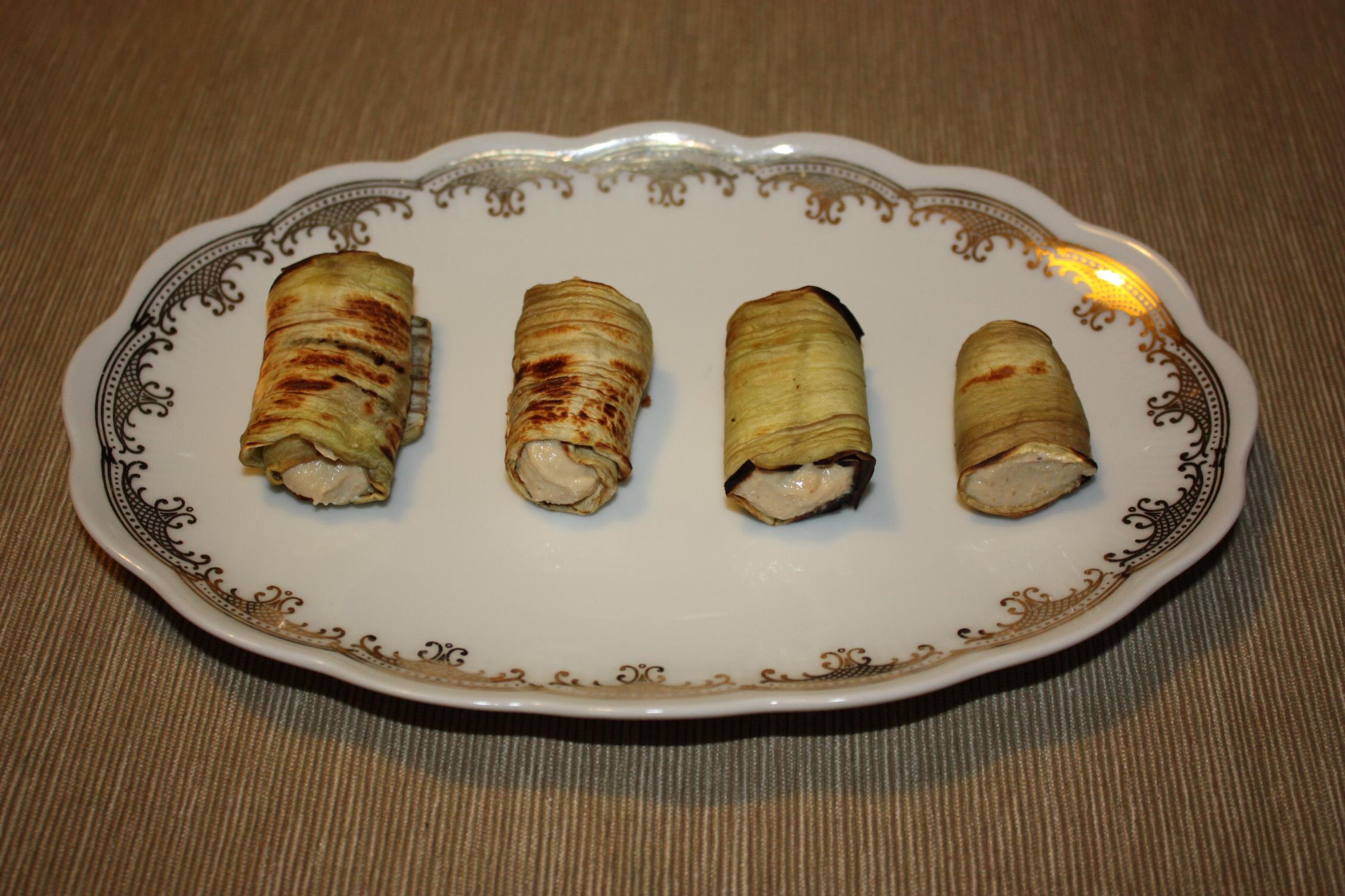 Involtini Di Melanzana Con Crema Di Arachidi E Anacardi – Piatto Pronto