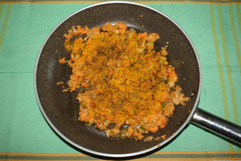 polpette di soia al sugo - saltare le verdure