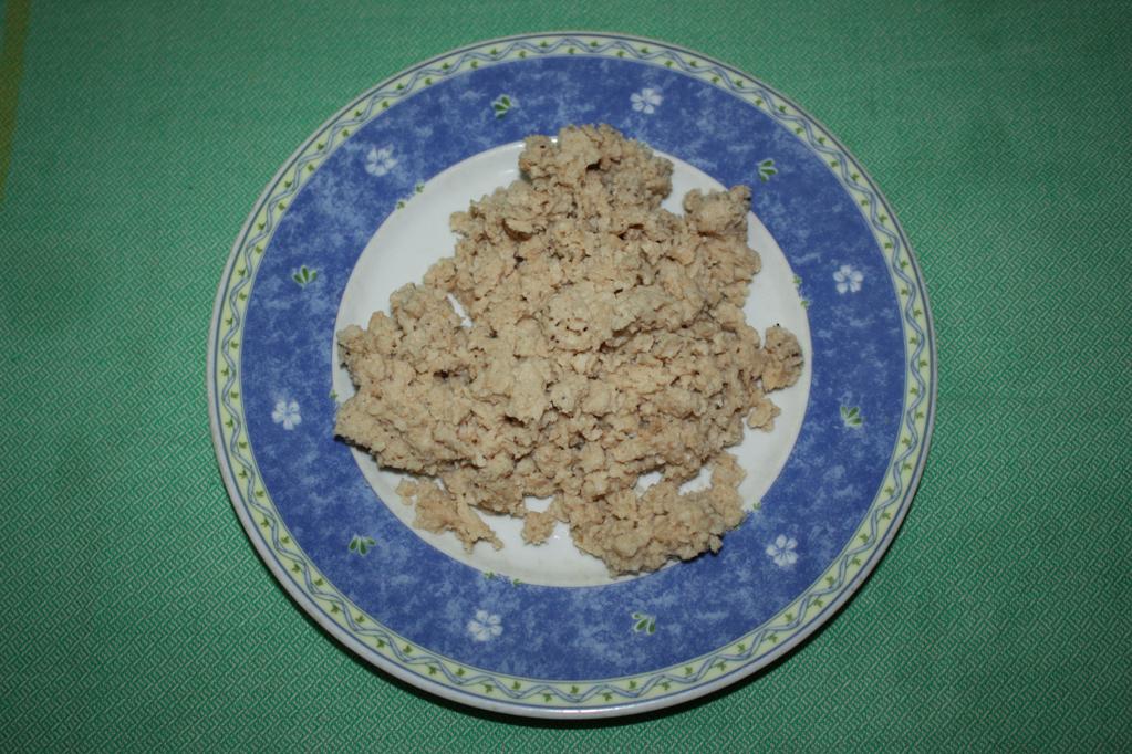 polpette di soia al sugo - bocconcini di soia reidratati