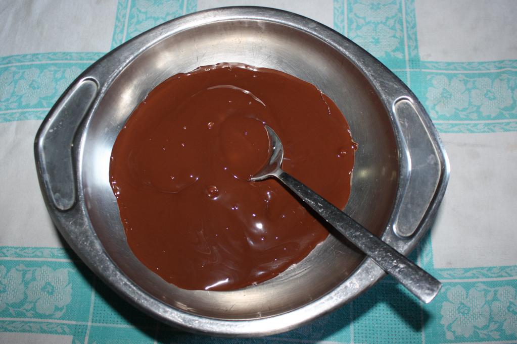 bounty - sciogliere il cioccolato