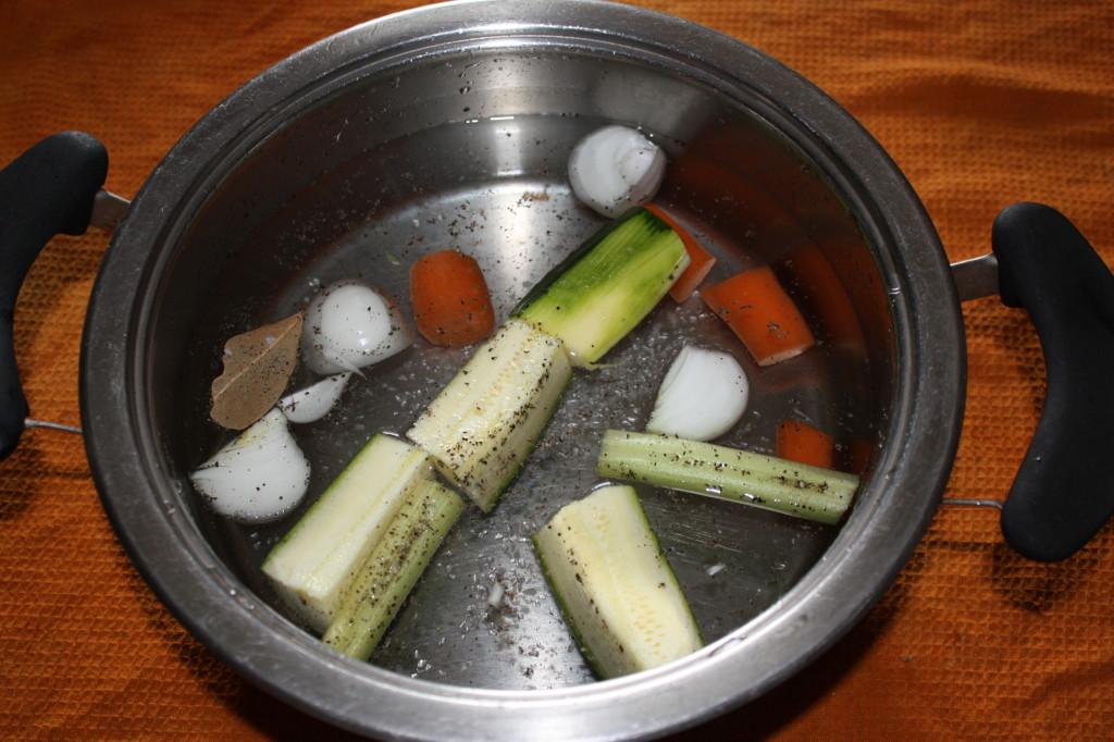 riso venere con asparagi - brodo vegetale
