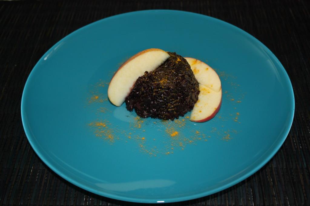 riso venere con funghi, carciofi e mela - piatto pronto