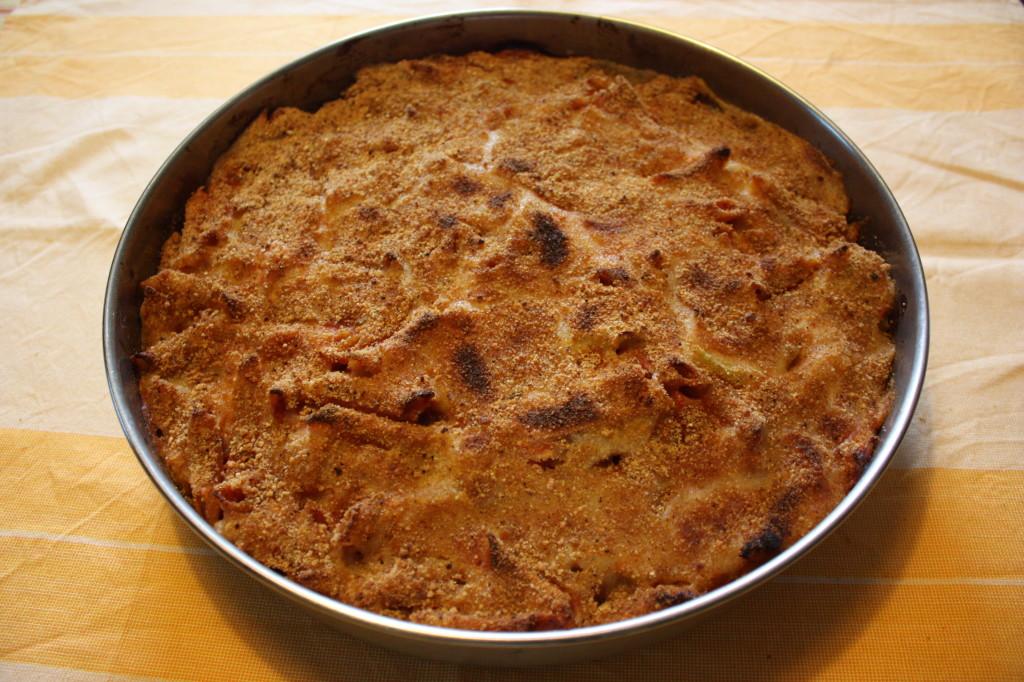 pasta al forno con cavolfiori - teglia pronta