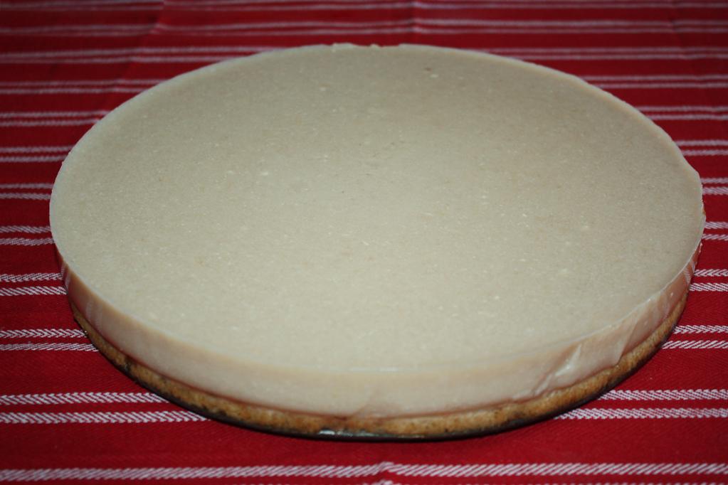 cheesecake di tofu alle pere - torta pronta