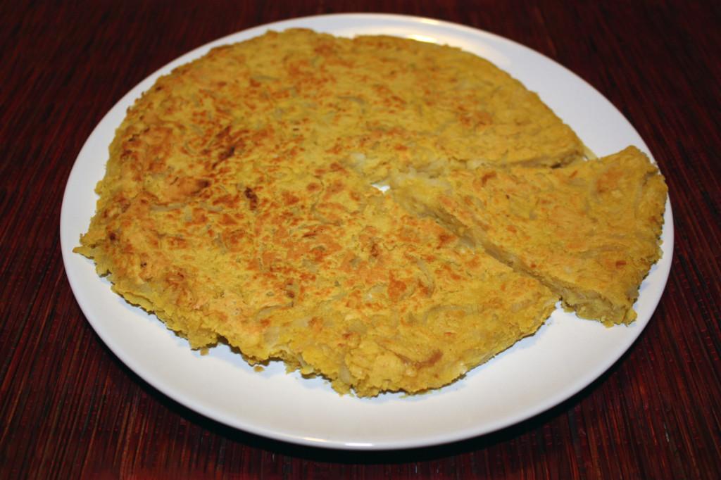 frittata vegan di cipolle - piatto pronto