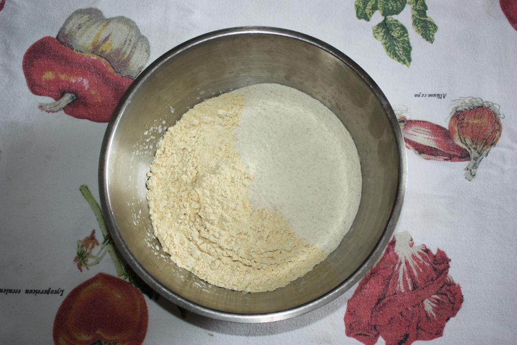 riso cantonese - unire la farina