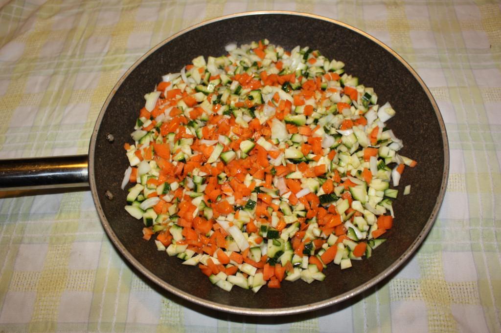 burger vegan di lenticchie - saltare le verdure