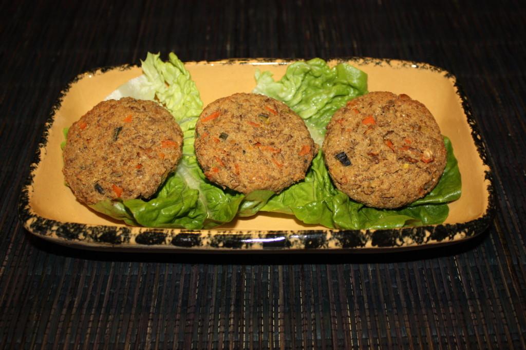burger vegan di lenticchie - piatto pronto