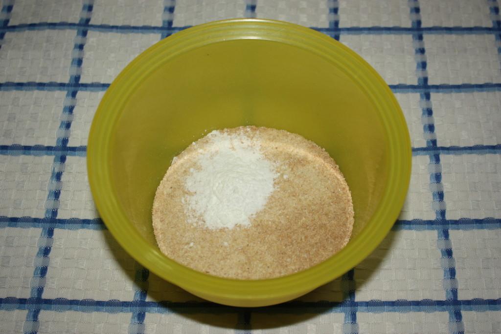pancake vegan - setacciare farina